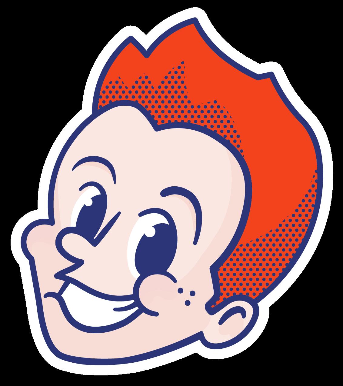 Le P'tit Roux logo mascotte