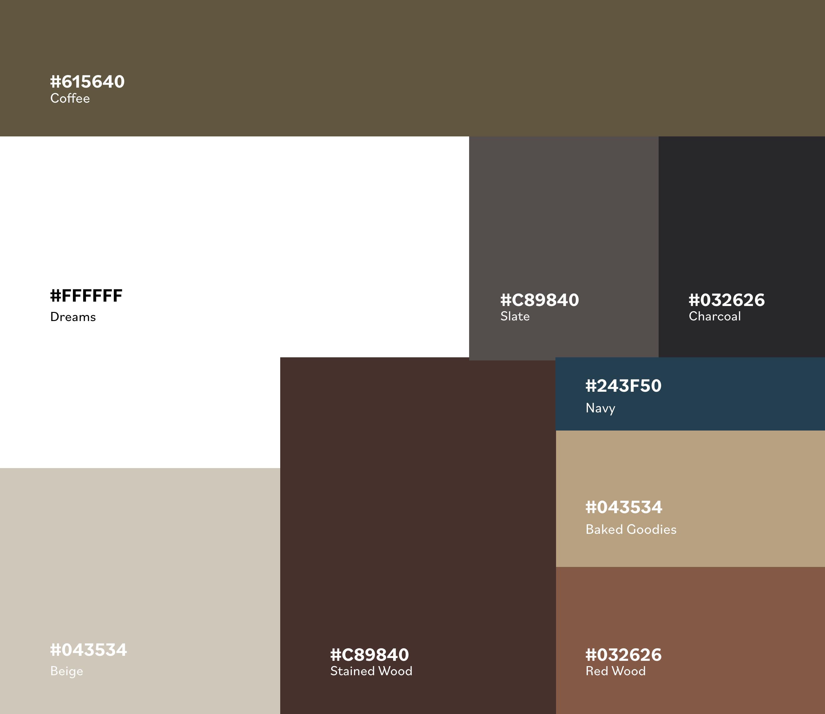 color scheme of La Pantry