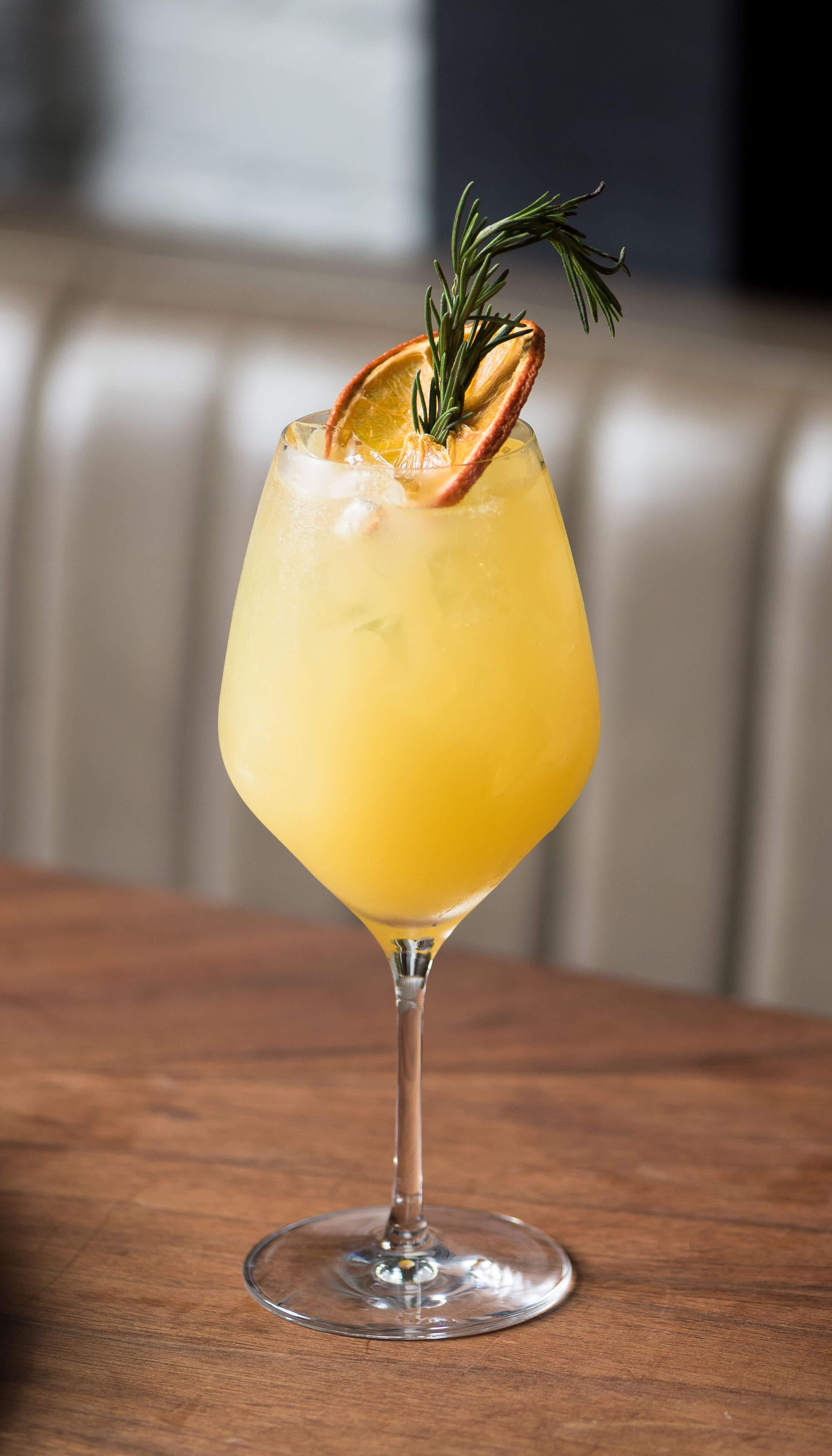 A cocktail from La Sobremesa