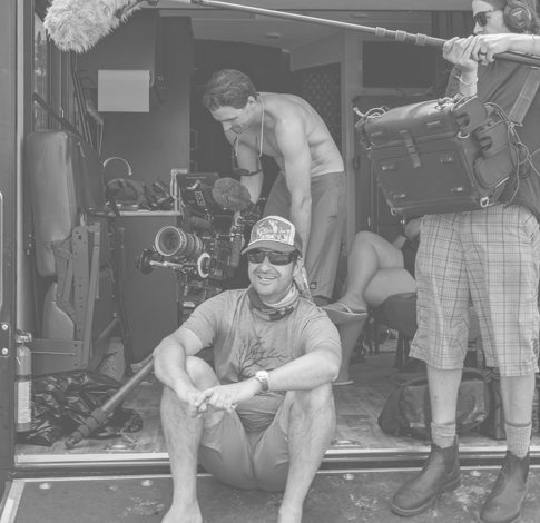 Marc Gutman with film crew