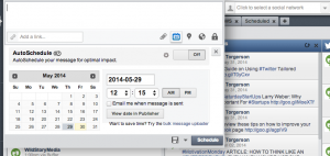 Hootsuite allows you to seamlessly schedule or autoschedule posts.