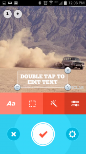 Add text, filters, and adjust photos