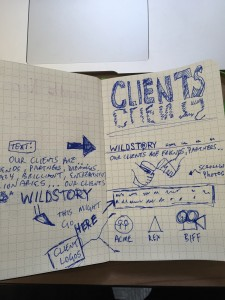 Sketchnotes of new website page