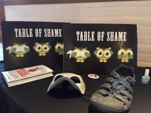 table of shame