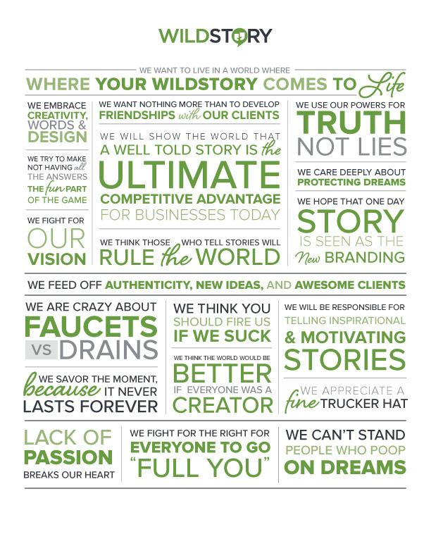 Wildstory Company Manifesto
