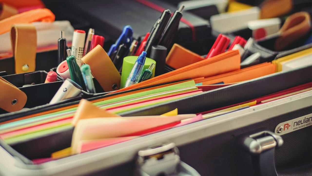 Various office supplies