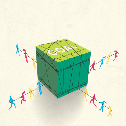 Goal cubed wrangled by people