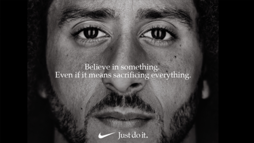 Believe in something. Even if it means you are sacrificing everything.