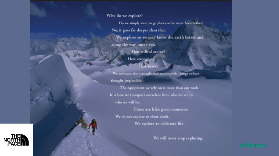 The North Face Manifesto