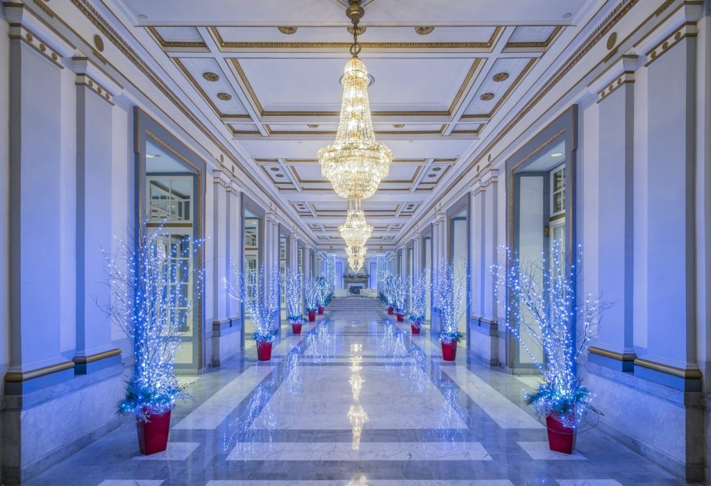 Montreal Windsor Ballrooms with lit up winter decor