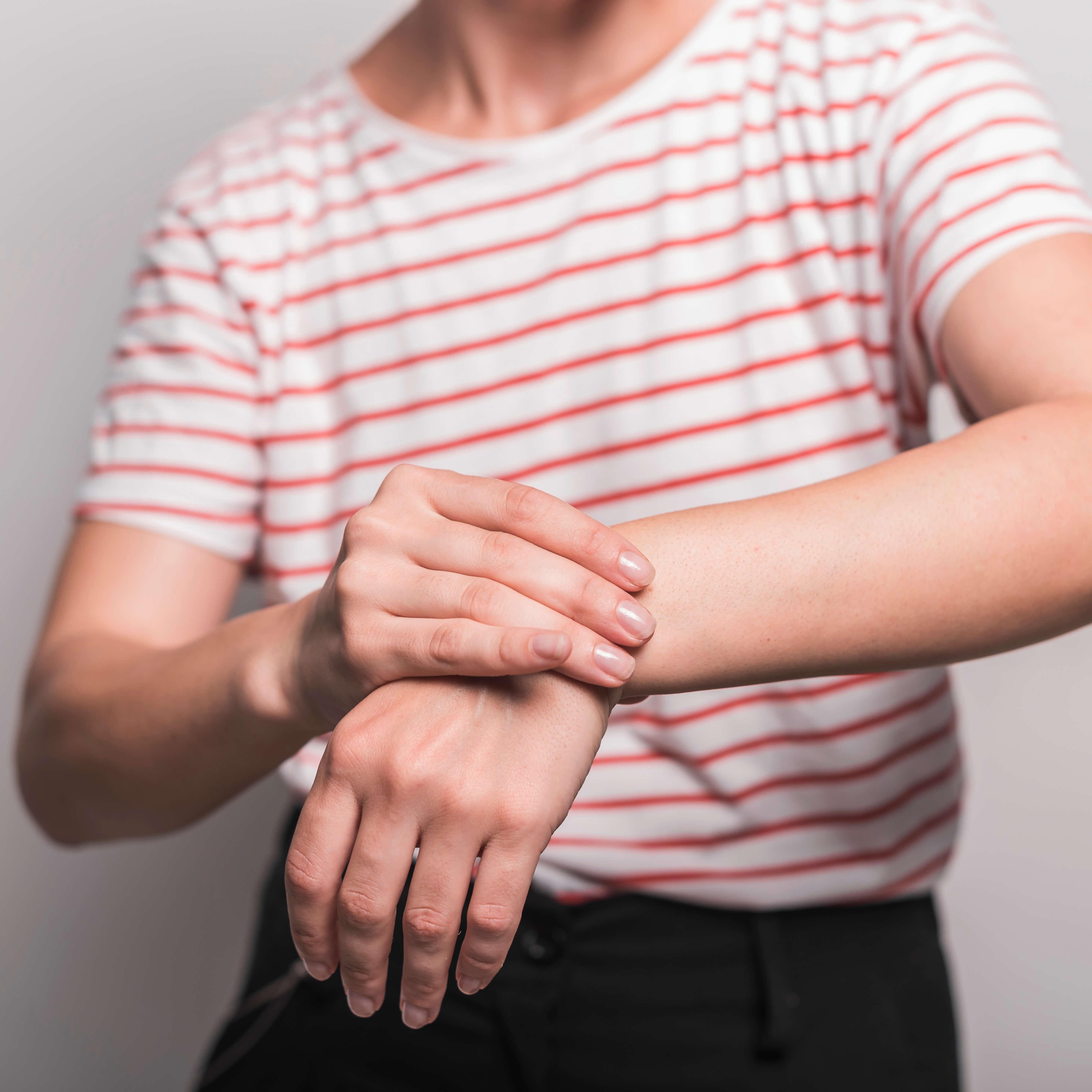 Albue, underarm og hånd