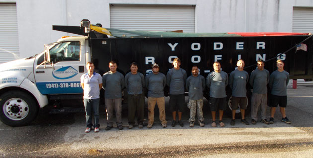 Yoder Roofing team