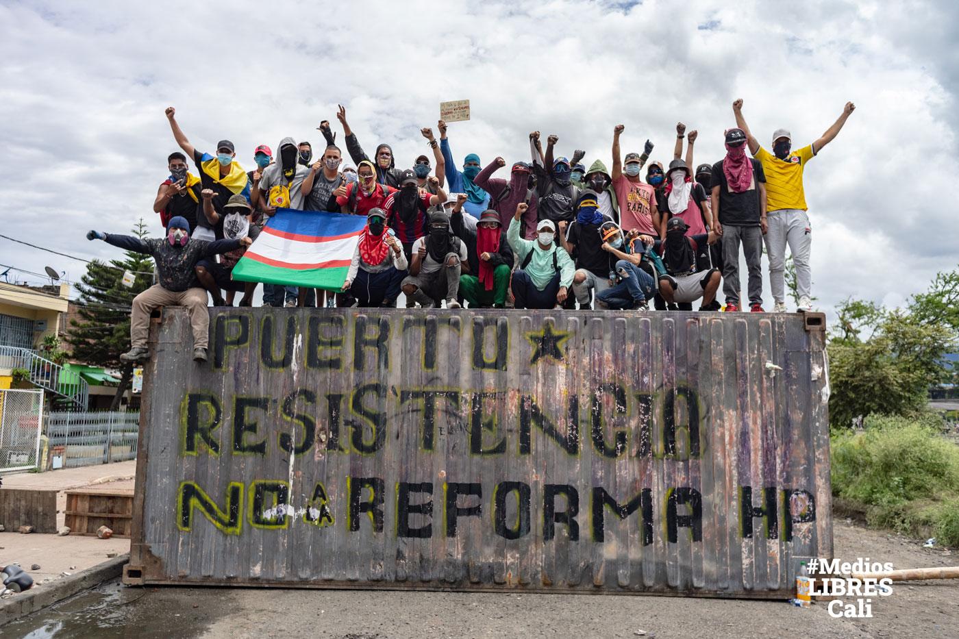 Puerto resistencia #MediosLibresCali