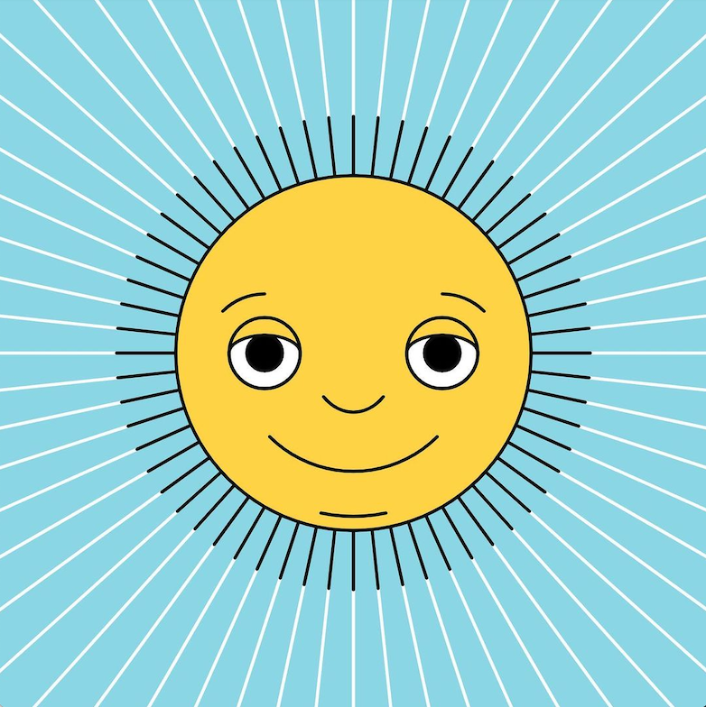 An illustration of a sun