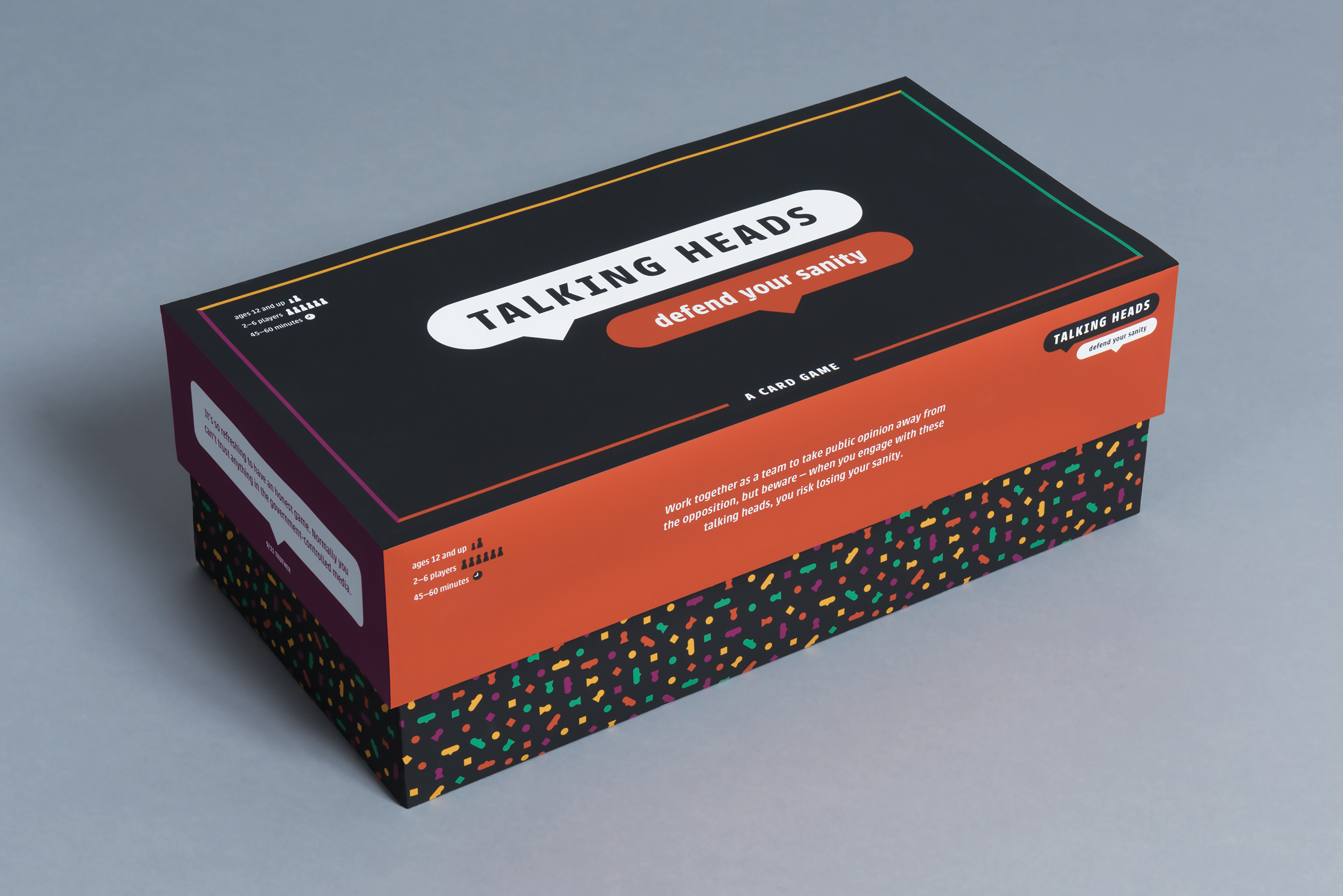 A photo of the exterior of the game box