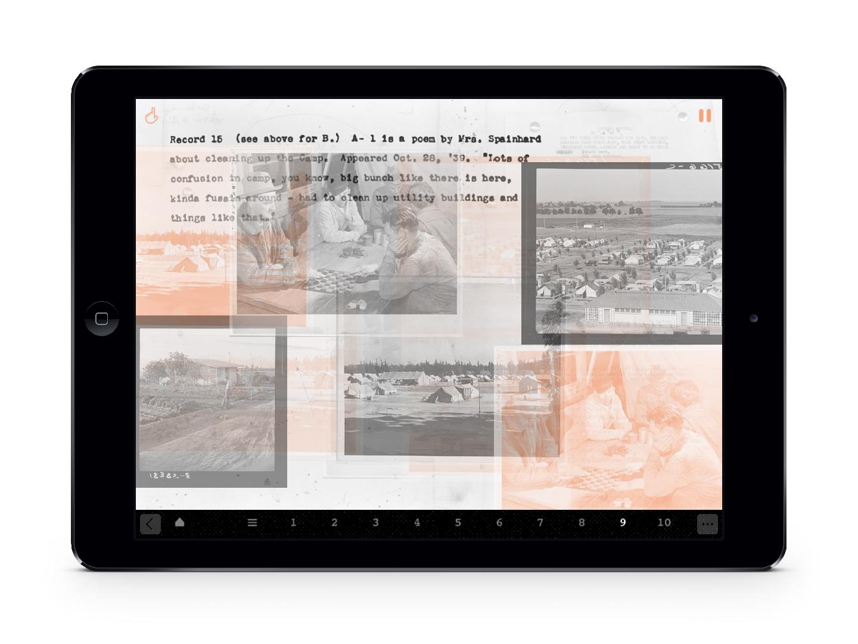 A screenshot of an ipad featuring overlapping photographs