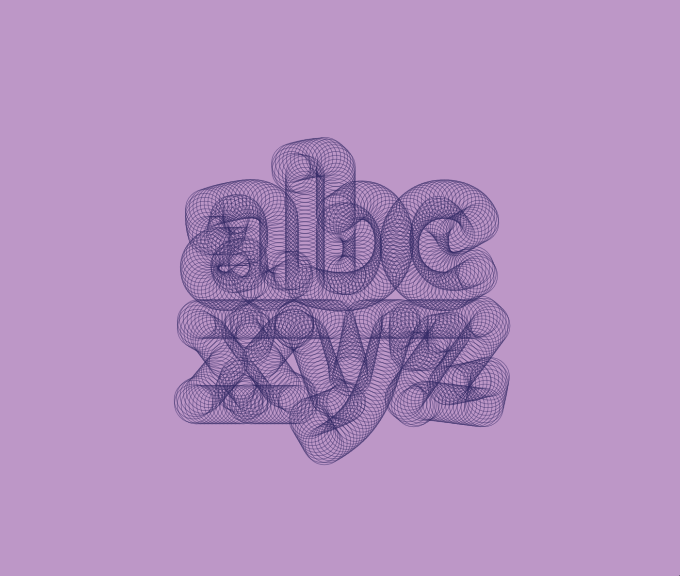 """an image of the letters """"abcxyz"""" made from circles"""