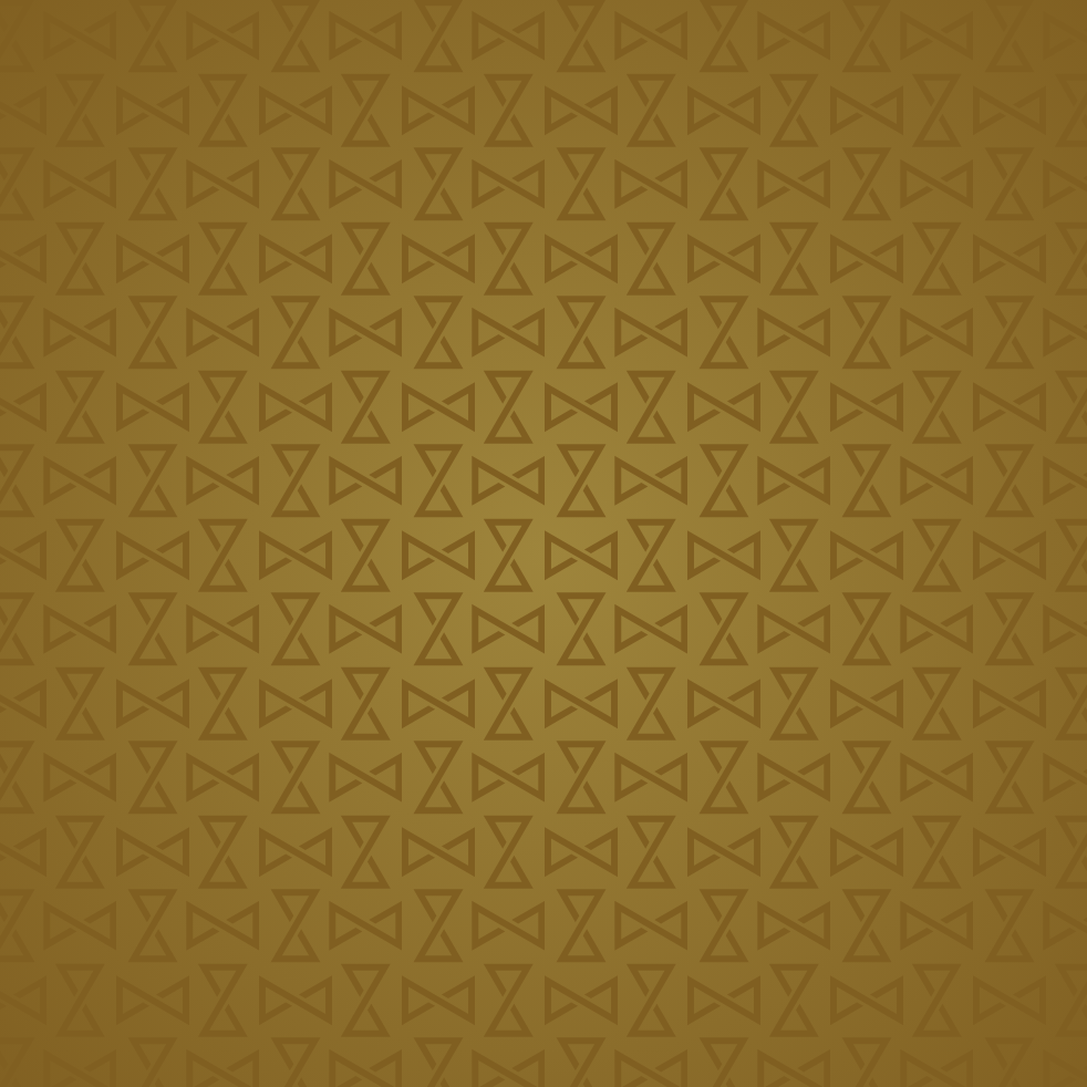 Gold tile pattern made from hourglass and infinity shapes