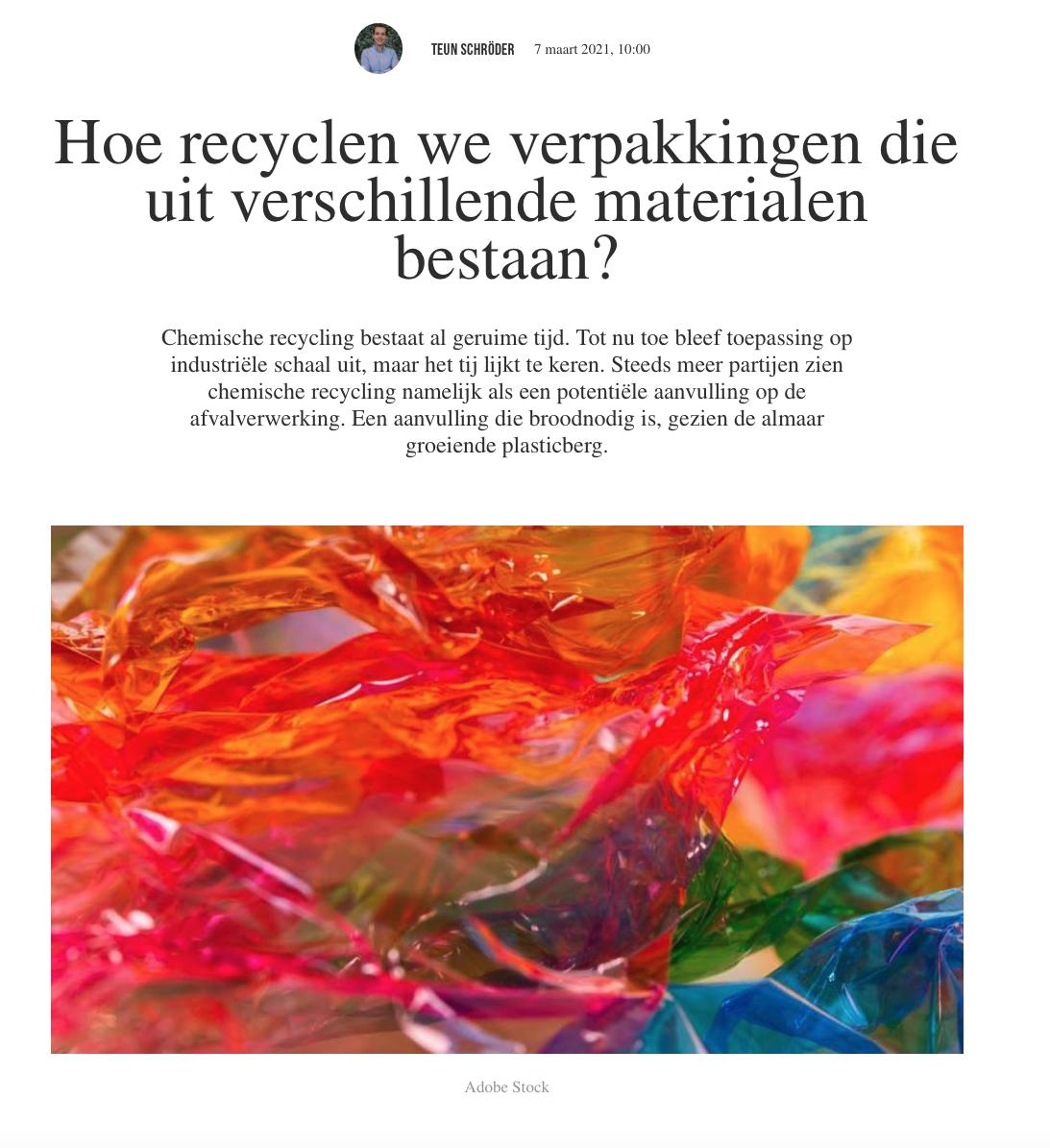 Hoe recycleren we verpakkingen?
