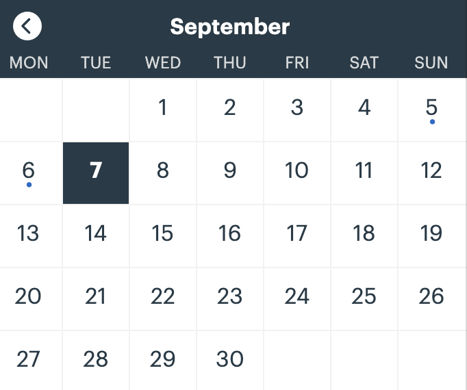 Preview of the Win The House You Love Planner application showing a calendar