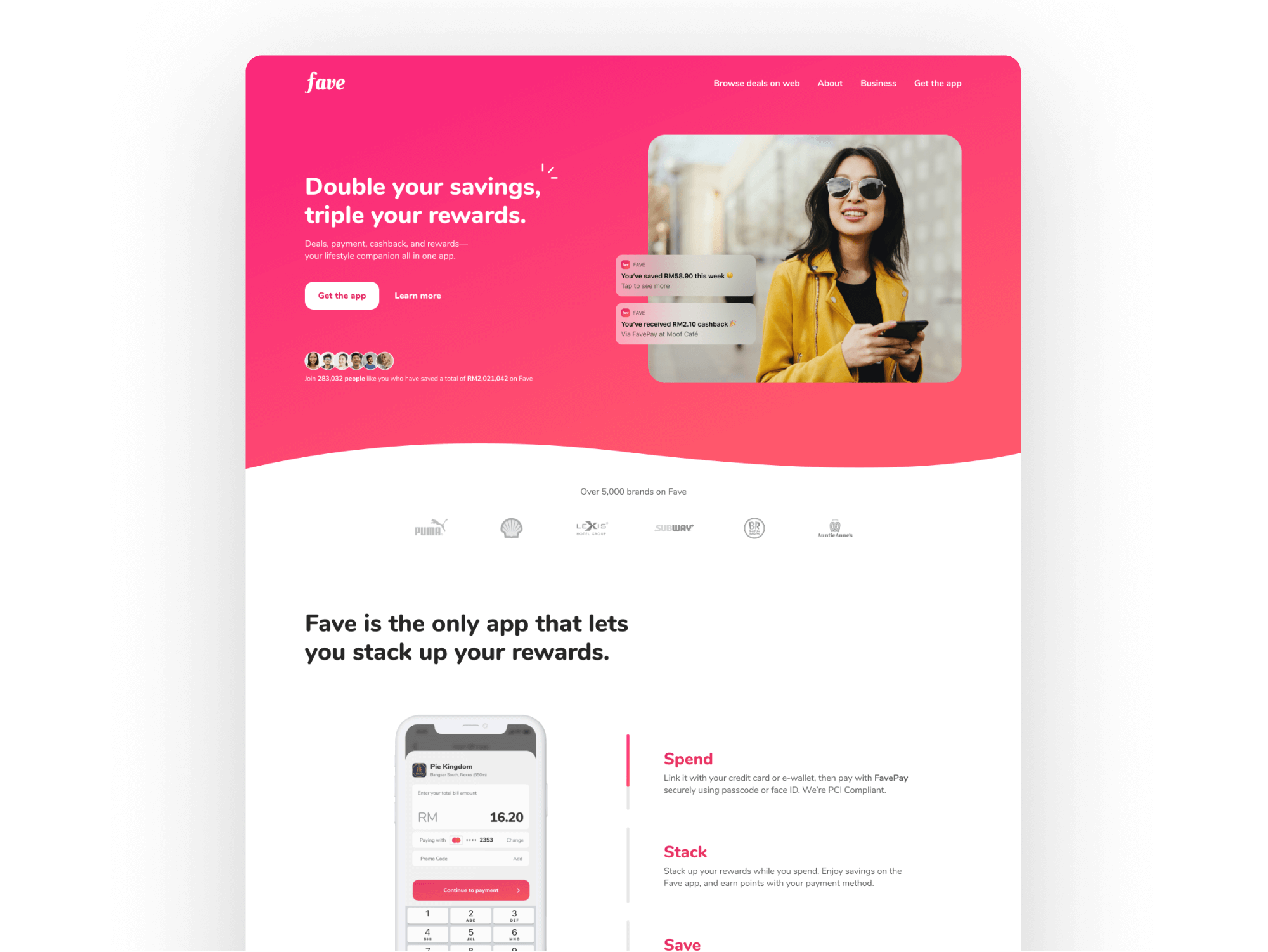 Fave Landing Page