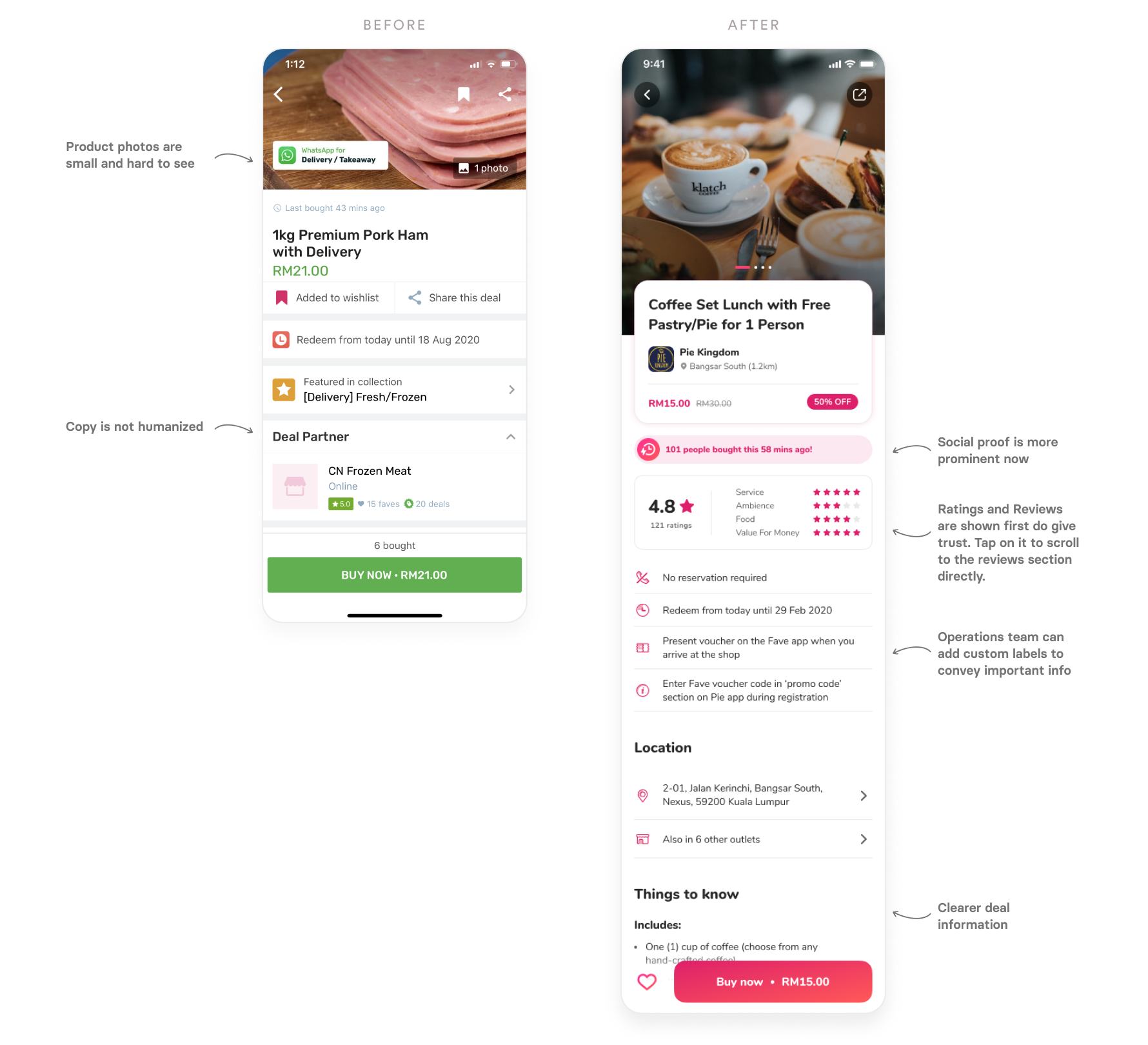 Deal page