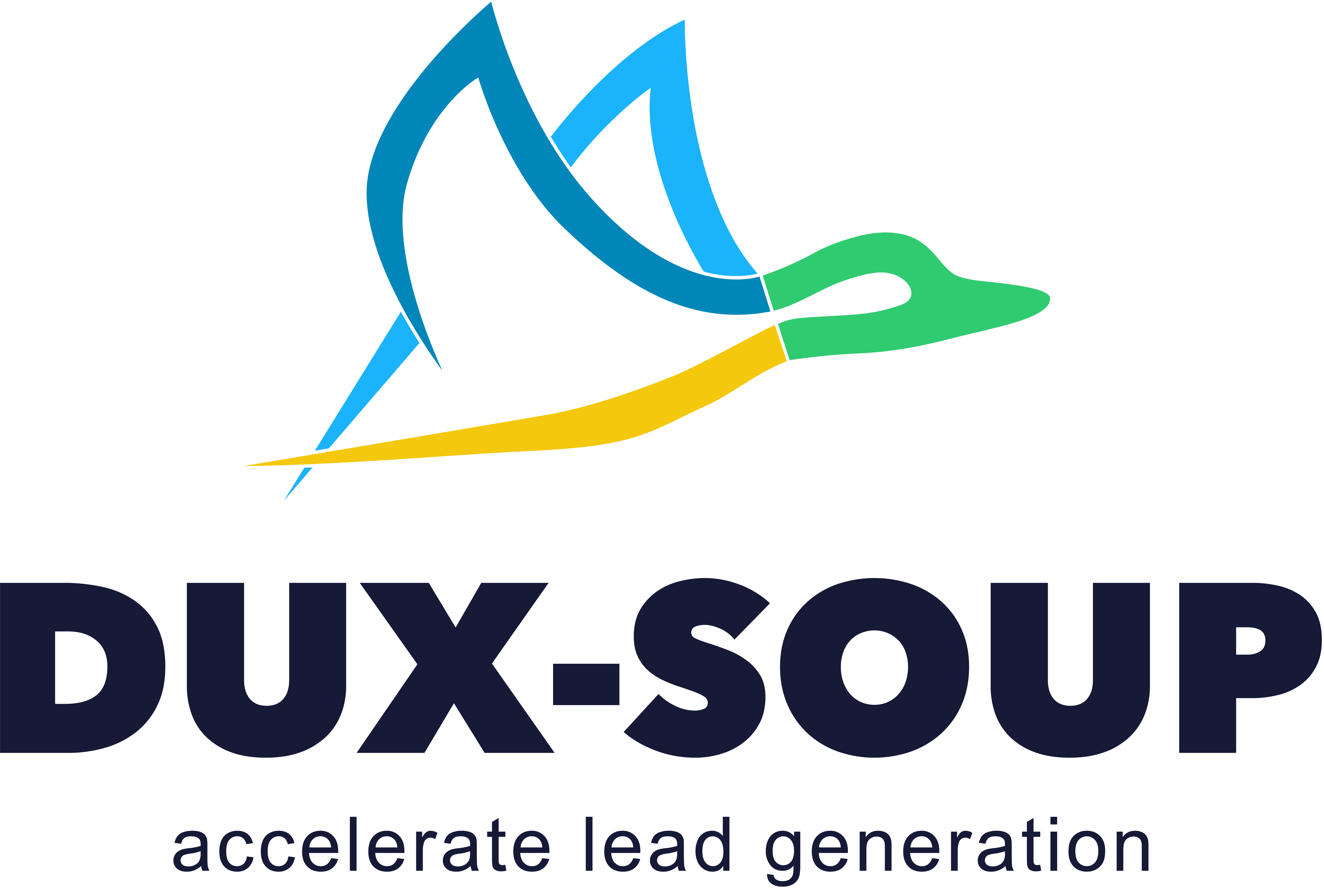 Dux-soup logo with tag line accelerate lead generation