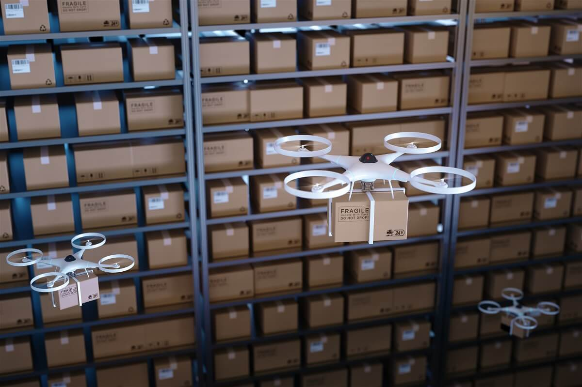 delivery by quadcopter