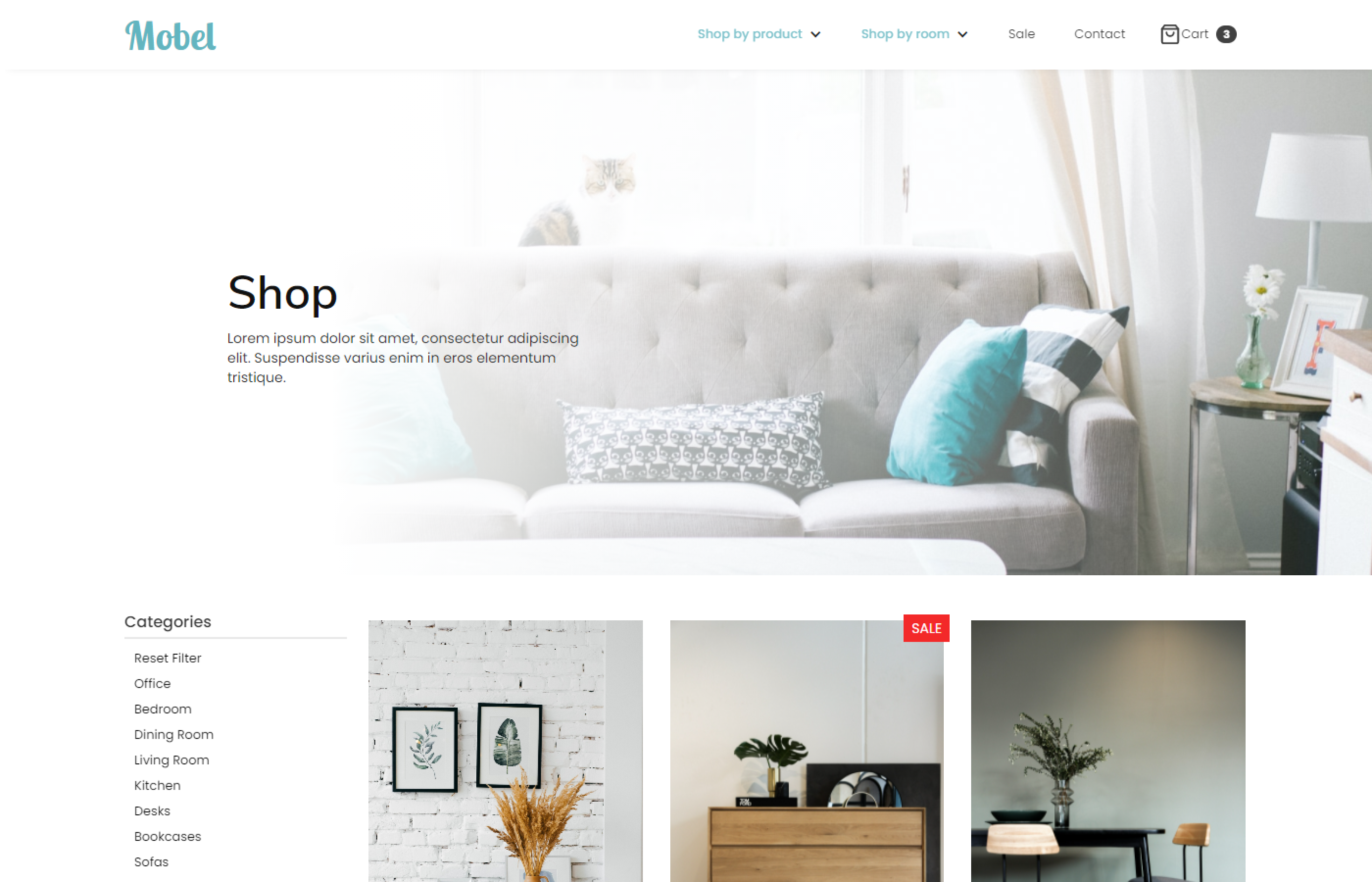 A furniture template website designed and built by Brett Hudson Freelance Web Designer and Webflow Developer