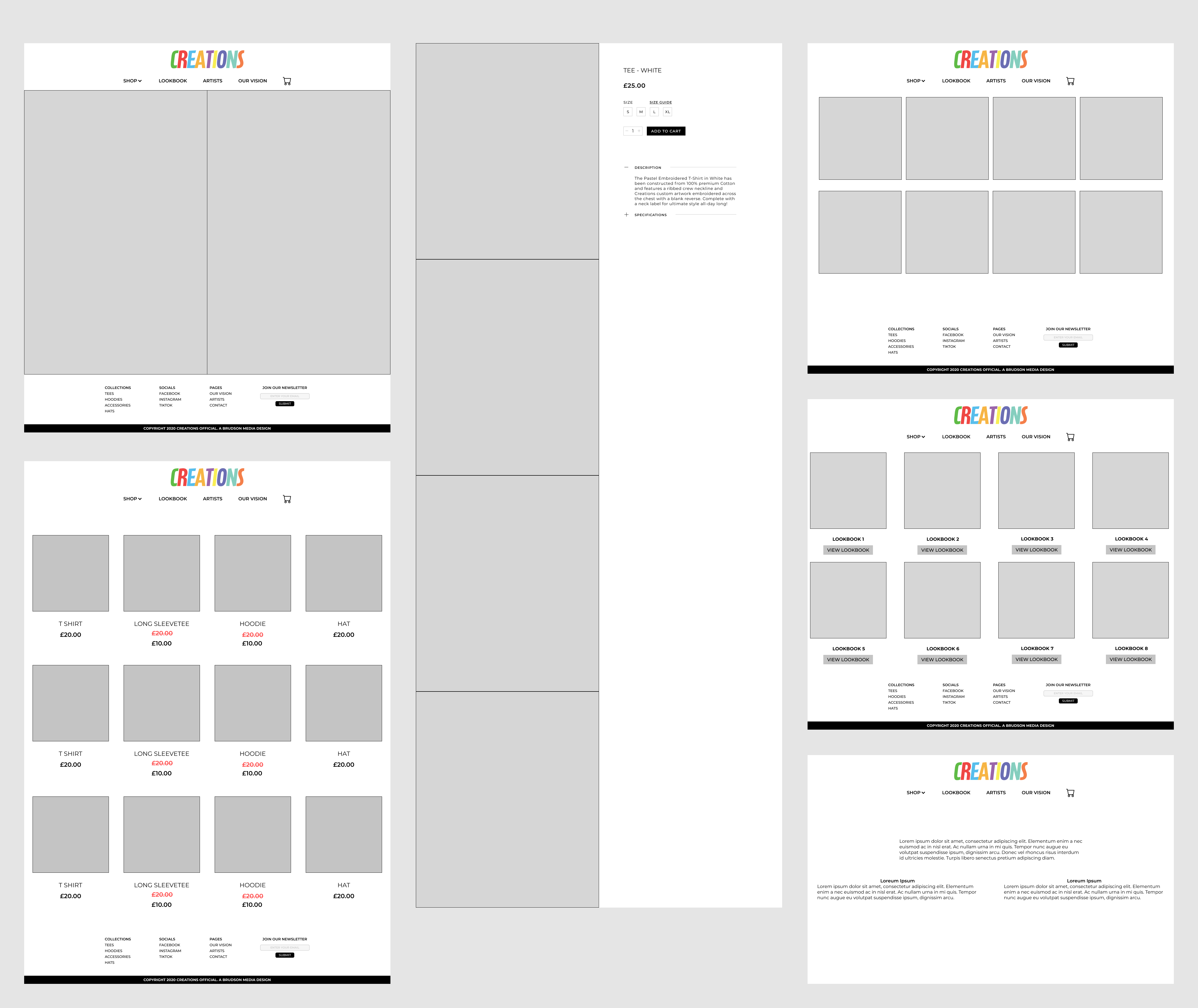 Creations Official Ecommerce, Webflow Development