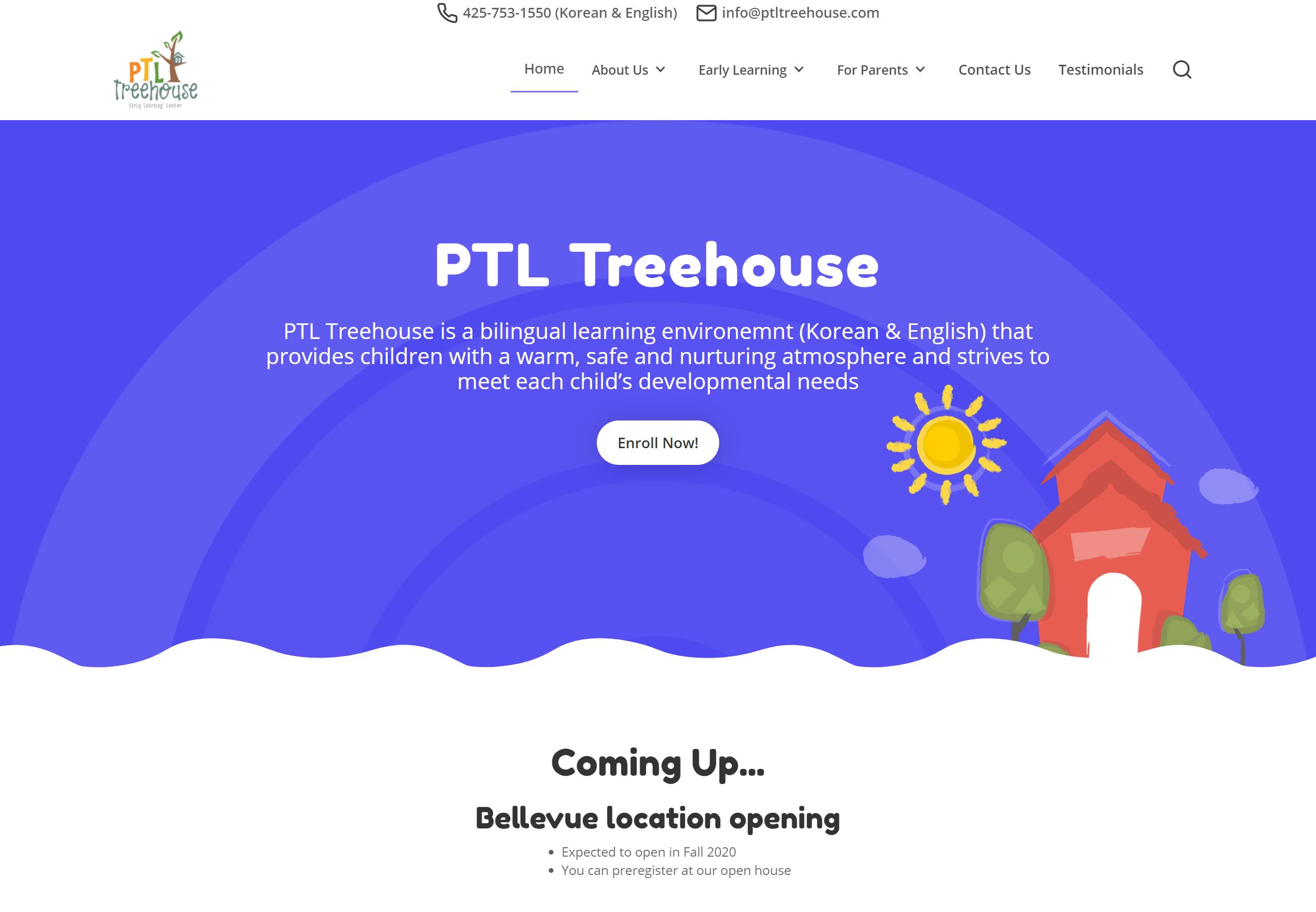 PTL Treehouse Website by Brett Hudson