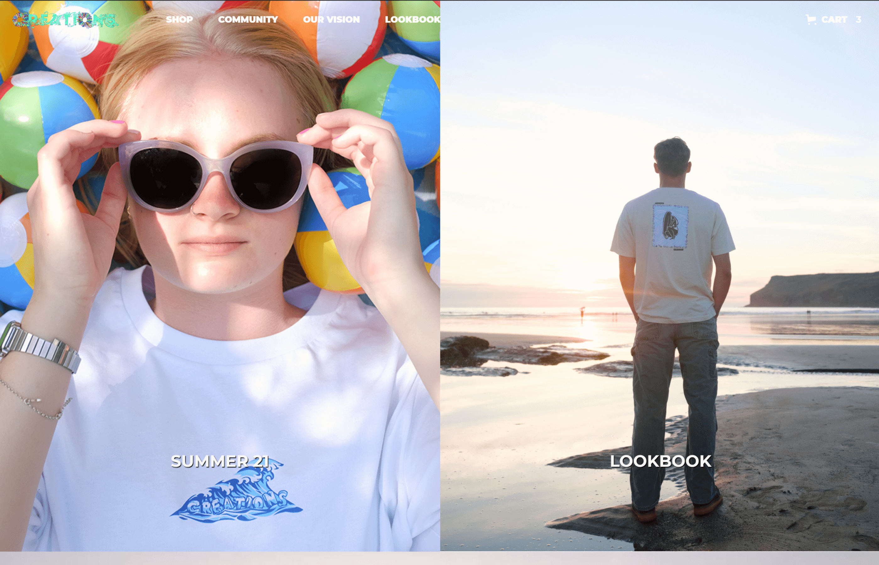Creations Official Website by Brett Hudson