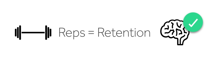 Reps = Retention