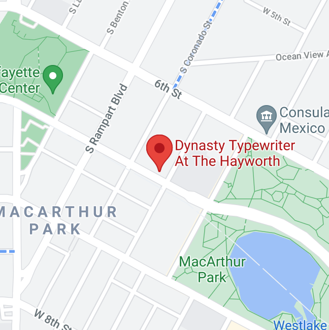 map image of the location of Dynasty Typewriter