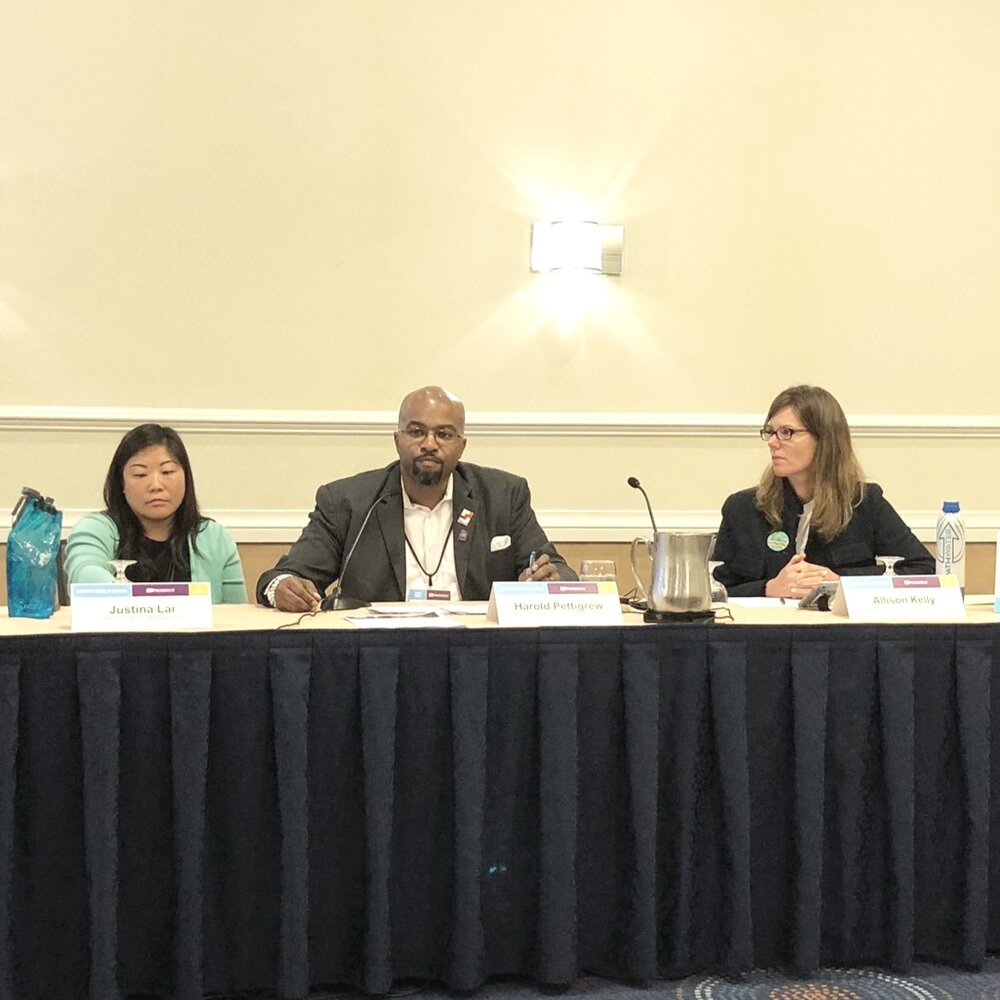 Justina Lai, Harold Pettigrew, and Allison Kelly at the 2019 OFN Conference in Washington, DC.