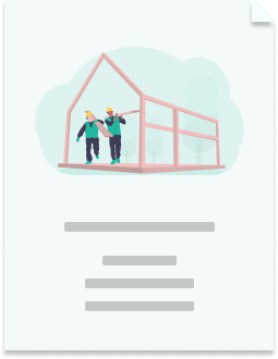 Illustration of a financial wellbeing case study with a construction company