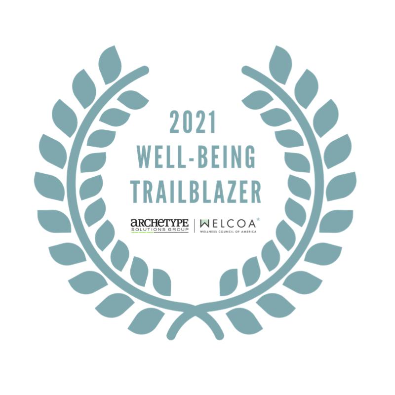 Wellness Council of America (WELCOA) Trailblazer badge award for LearnLux financial wellbeing