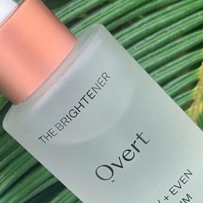 Overt Skincare product bottle