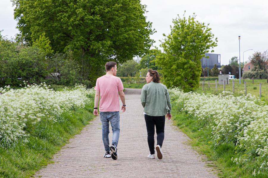 Sam walking