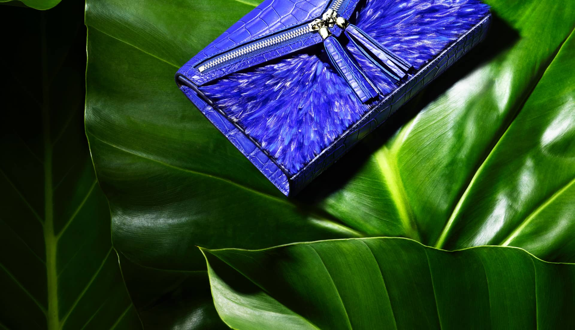 Pochette haute couture Majorelle Ingrid Paris