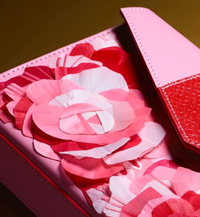 Visuel proche Pochette haute couture Rose Rouge Divine Ingrid Paris