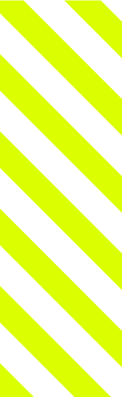 Yellow stripes lined up at 45 degrees.