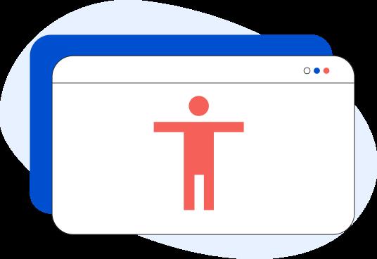Illustrazione dell'icona dell'accessibilità
