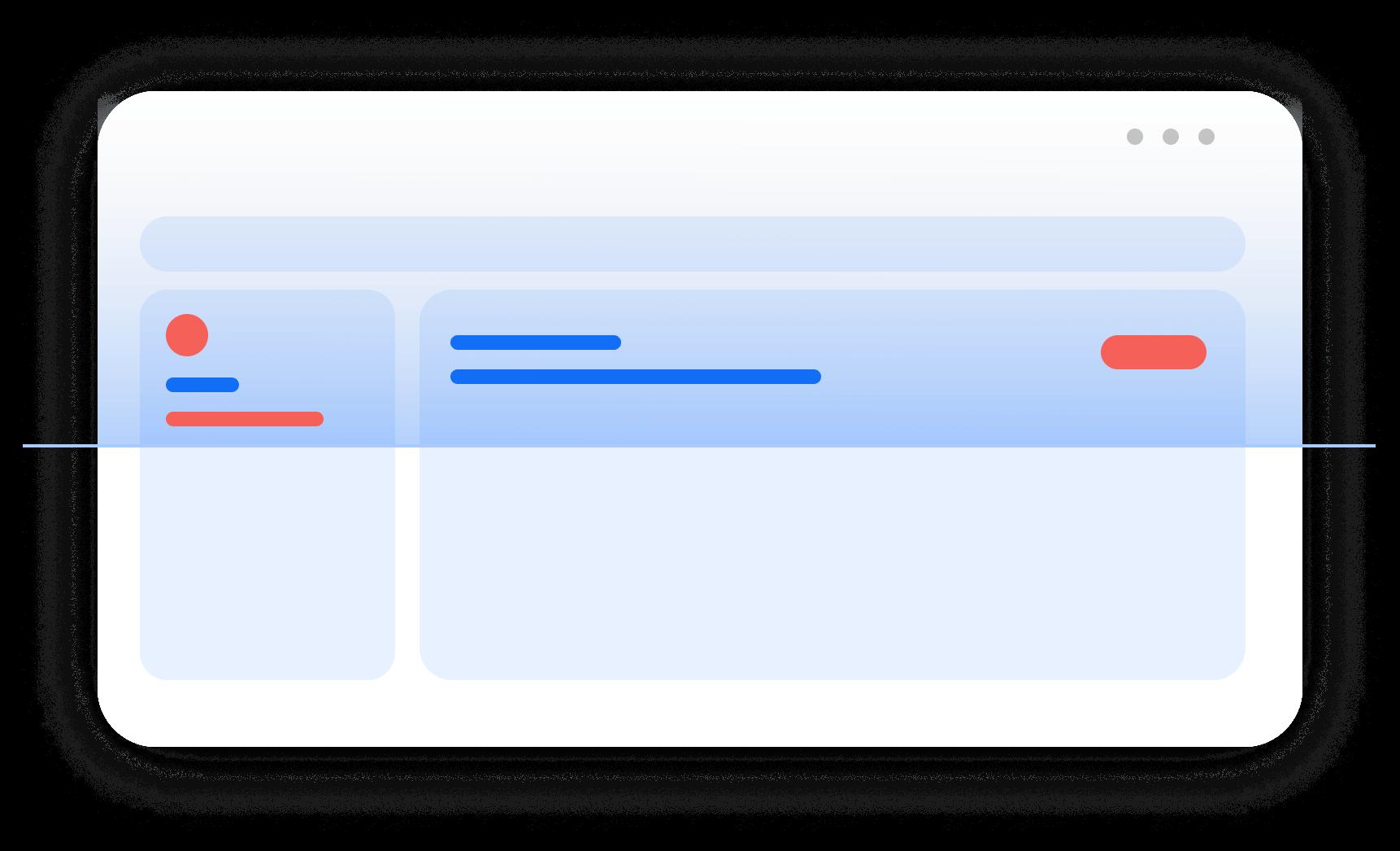 Illustrazione di una bozza di una pagina web mentre viene scannerizzata da aCe