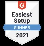 "Certificato di Google ""Easiest Setup summer 2021"""