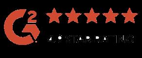 """Logo di Google con valutazione di cinque stelle accompagnate dalla scritta """"4.9 star rating"""""""