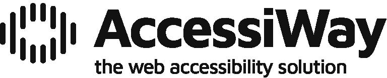 Logo nero completo di AccessiWay - the web accessibility solution