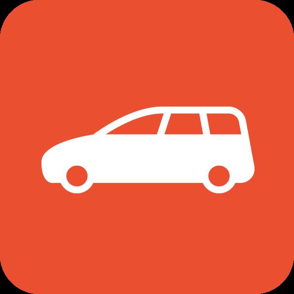 Icône comportant une voiture