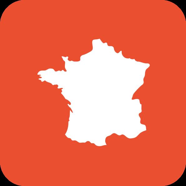 Icône comportant une carte de France