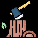 Logo bûches et hâches